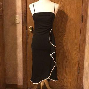 Taboo Black Ruffle Dress w/ Spaghetti Straps